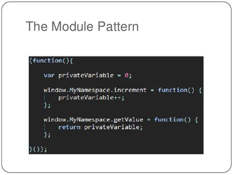 javascript module pattern instance variables how to not suck at javascript