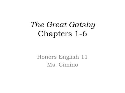 themes for great gatsby chapter 6 the great gatsby chapters ppt video online download