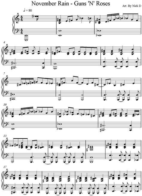 tutorial piano november rain piano piano tabs november rain piano tabs november rain