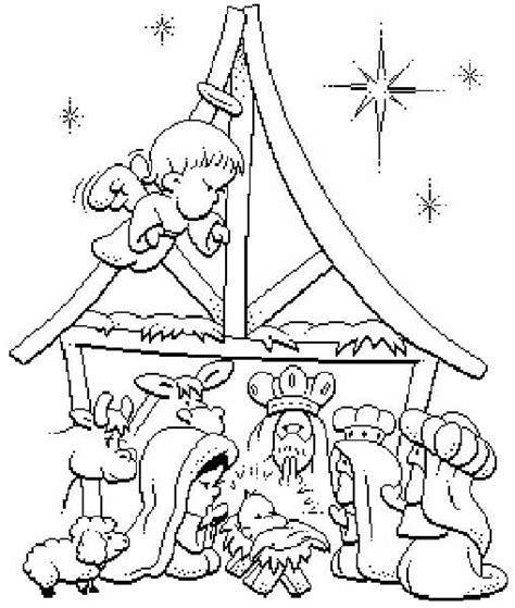 imagenes para colorear nacimiento de jesus dibujos del nacimiento de jesus para colorear escena del