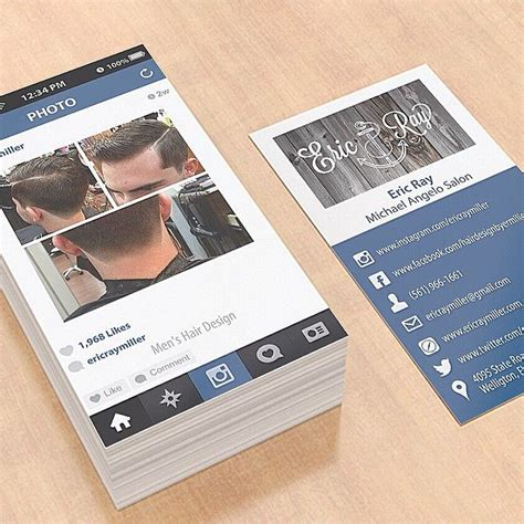 instagram card template cool idea alert instagram inspired business cards by
