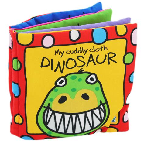 infant picture books busy baby cloth book cuddly dinosaur by horne