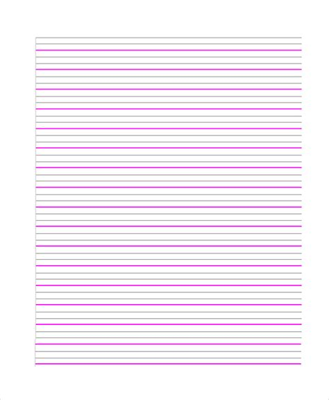 printable lined paper a4 pdf sle lined paper 7 documents in pdf word