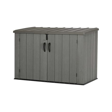 Lifetime Horizontal Shed by Lifetime Outdoor Garbage Bin 60212 Brown 6 Horizontal