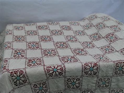 Handmade Bedspreads - cotton crochet flower pattern lace handmade