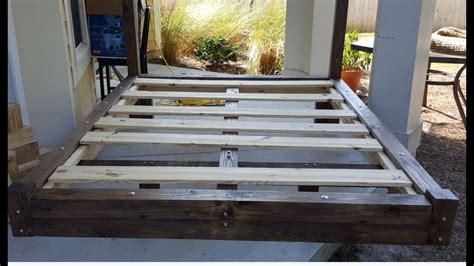 simple diy plans  platform bed frame youtube