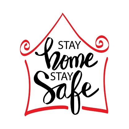 stay home stay safe stock illustration  image