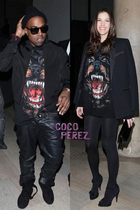 Kanye And Rock The Givenchy Show by Liv Kanye West Are Twinsies Cocoperez