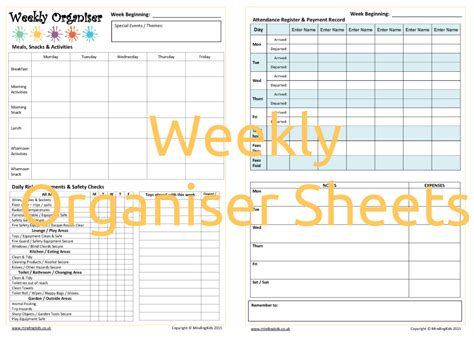 nursery daily diary template weekly organiser sheets mindingkids