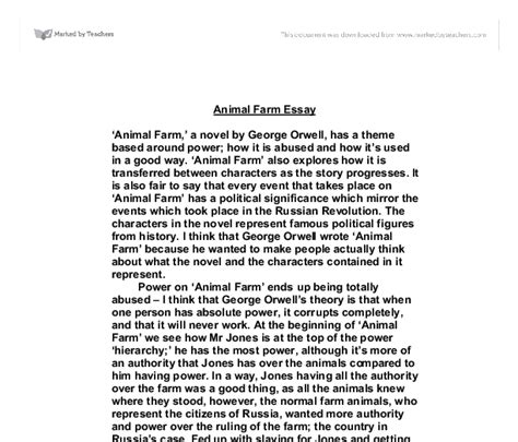 theme essay on animal farm character essay in animal farm
