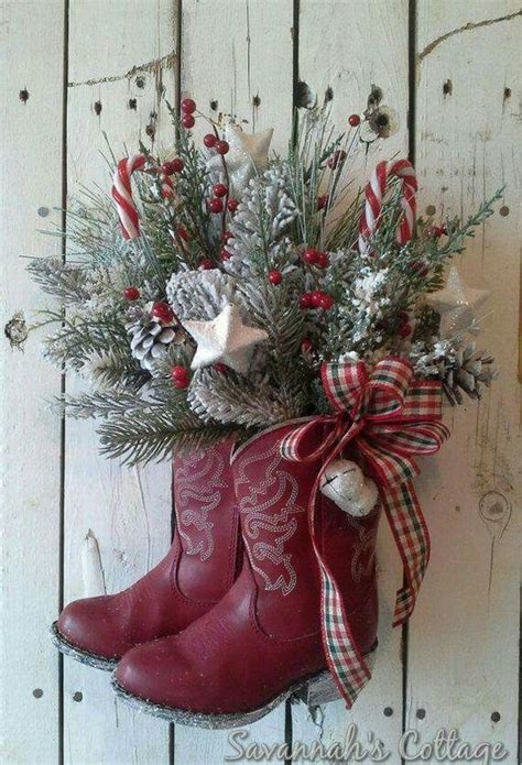cowboy boots christmas decorations christmas pinterest