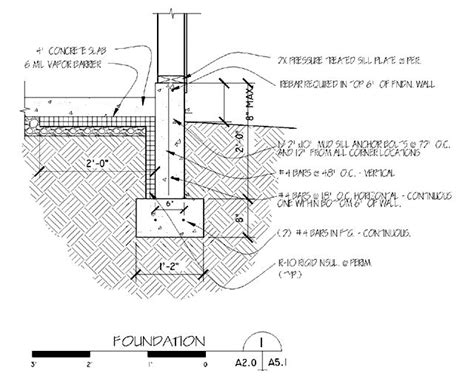 concrete slab section image result for foundation drain cross section detailz
