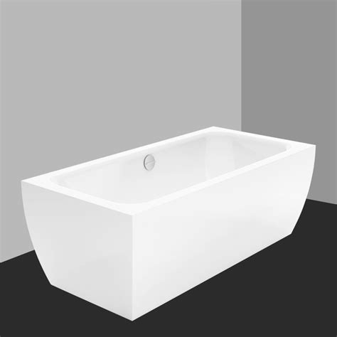 Bette Badewanne by Bette Cubo Silhouette Freestanding Bath White With