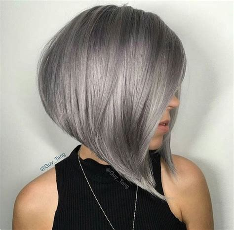 Grey Bob Hairstyles by Layered Bob Grey Hair Styles Design