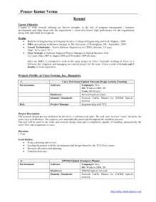 Resume Format In Indian Resume Format For Freshers It Resume Cover Letter Sle