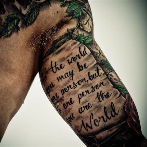 inner bicep quote tattoos for men quotes for on bicep best home decorating ideas