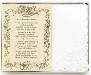 Personalized to a special someone poetry hankie wedding collectibles