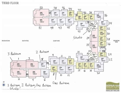 honua kai floor plan rare condo offering inner courtyard ocean view one bedroom at honua kai resort hawaii life
