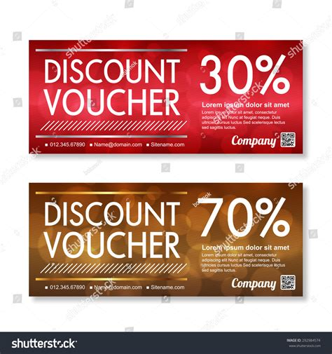 Voucher Promo discount voucher template premium pattern stock vector 292984574