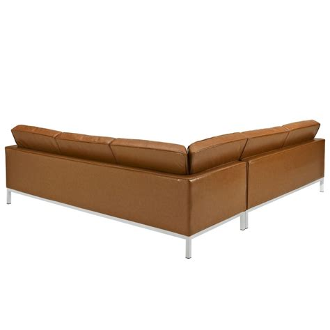 Bateman Leather L Shaped Sectional Sofa Modern Furniture L Shaped Leather Sofa