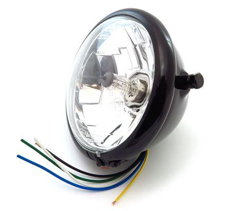 halogen len 5 3 4 quot gloss black halogen headlight clear lens high beam