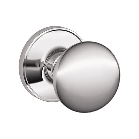 Schlage Chrome Door Knobs by Shop Schlage Stratus Bright Chrome Passage Door Knob