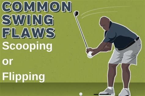 scooping golf swing common swing flaws scooping or flipping plugged in golf