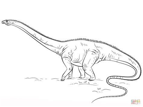 diplodocus dino coloring page free printable coloring pages