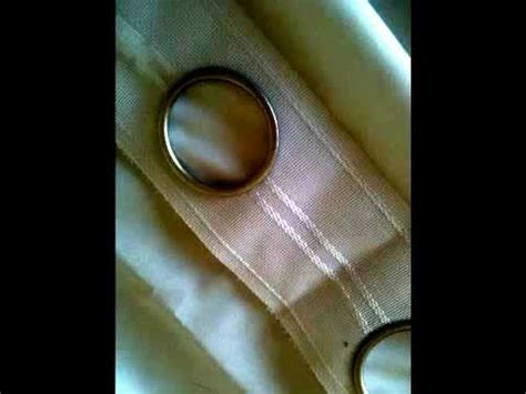making drapes with rings make elegant ring stud curtains youtube