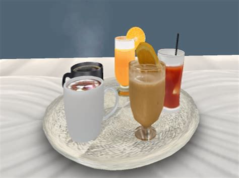 second life marketplace breakfast drinks 9 drink choices 5 tray choices food connection