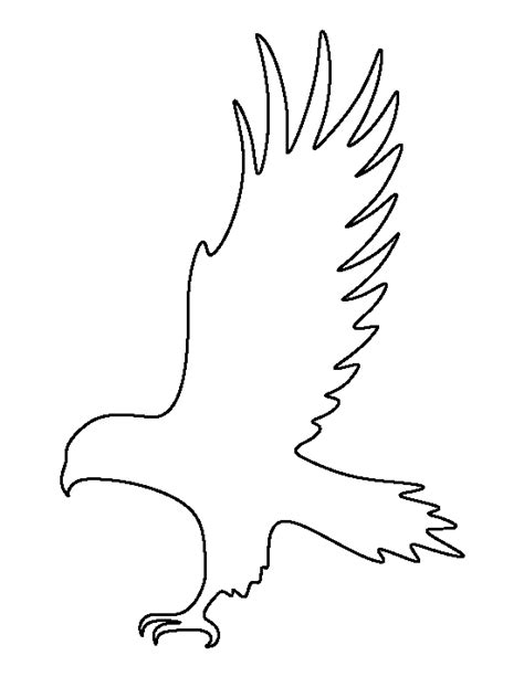 printable silhouette templates hawk pattern use the printable outline for crafts