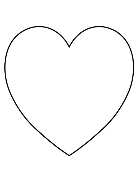 printable heart shape template clipart best