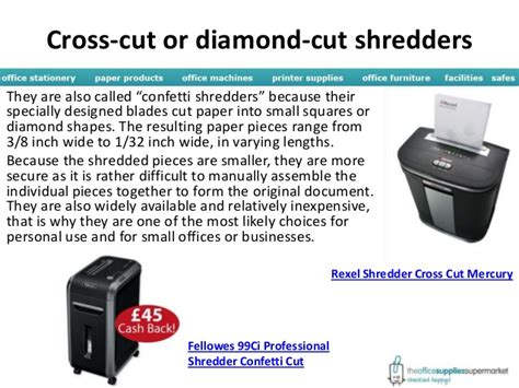 types of paper shredders paper shredder types