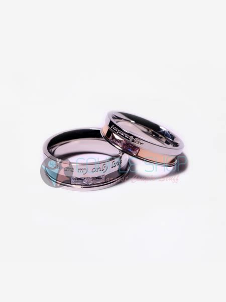 Cincin Pria Gold Permata Bahan Titanium Anti Karat Pudar cincin 263 shop