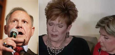 roy moore vs kavanaugh roy moore accuser admits to forging yearbook in coached