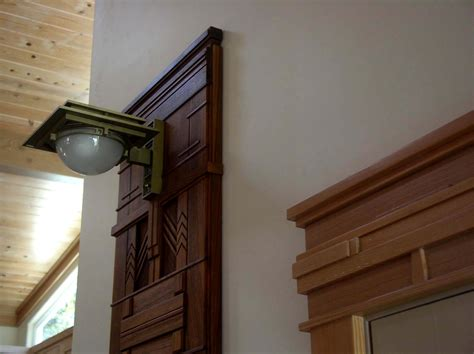 Wright Door by Heistand Woodwork Frank Lloyd Wright Sconce Walnut Surround