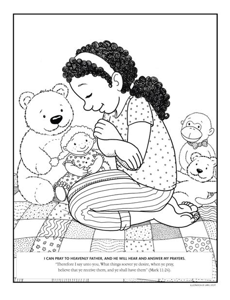 lds coloring pages praying coloring page liahona sept 2008 f11 liahona