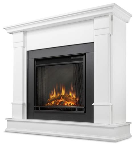 Silverton Electric Fireplace In White Traditional Silverton Electric Fireplace