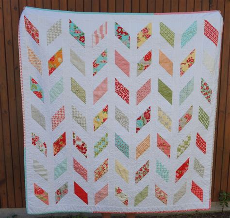 Modern Quilting by You To See Vintage Modern Marmalade Chevron Quilt By