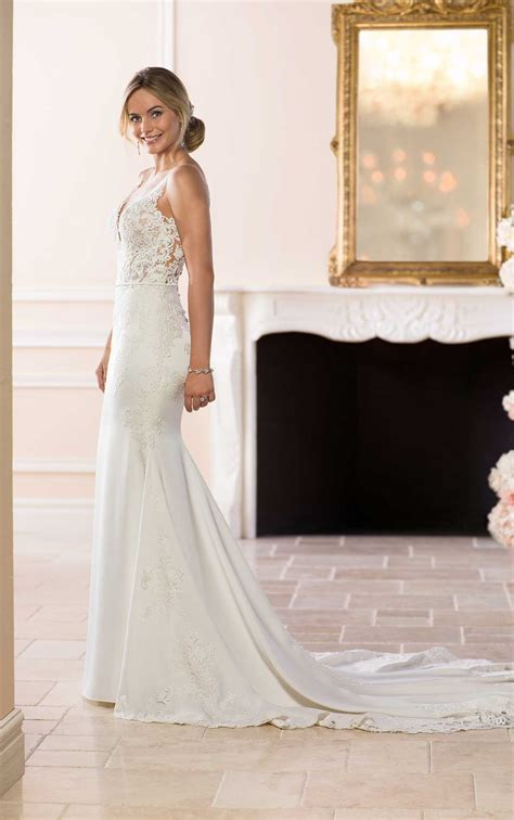 simple  sleek wedding gown stella york wedding gowns