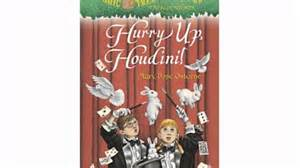 Hurry Up Houdini Book Report by Magic Tree House 50 Hurry Up Houdini A Stepping Book Tm