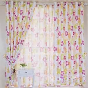fancy purple flower print curtains for kids bedrooms