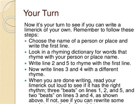 writing a limerick template write a lymerick