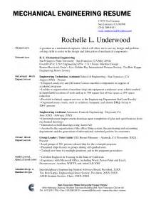 Resume Exle In Engineer Mechanical Engineering Technology Resume Sales Engineering Lewesmr