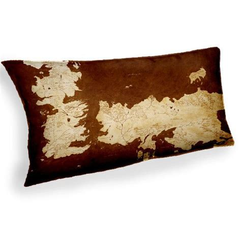 Of Thrones Pillow by Of Thrones Map Custom Fabric Cushion Pillow
