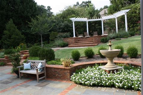 Terraced Backyard Landscaping Ideas Backyard Terraces Traditional Landscape Other Metro