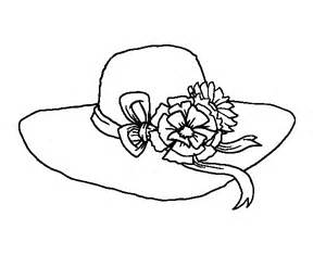 Galerry flower hat coloring page