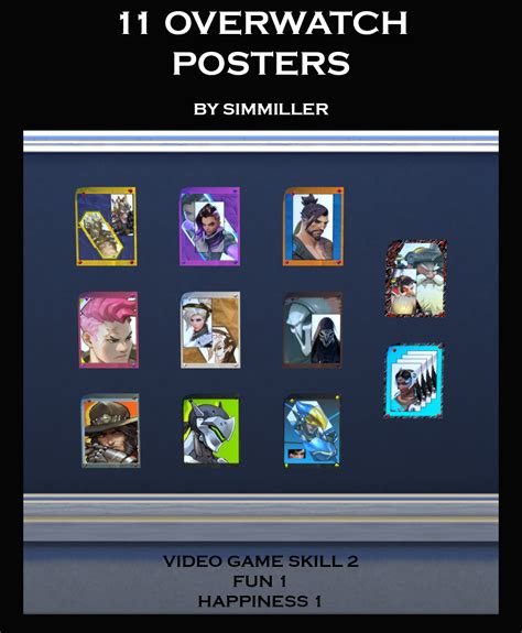 Poster Overwatch 11 mod the sims 11 overwatch posters