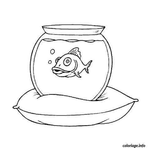 Coloriage Aquarium Poisson Dessin