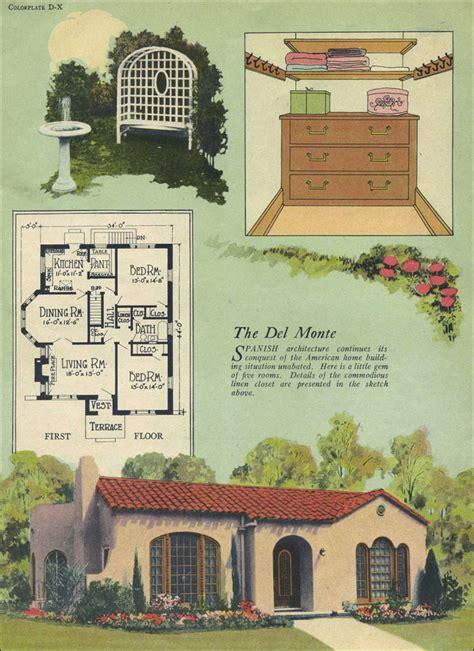 Del Monte Spanish Revival William A Radford Tile Small Revival House Plans